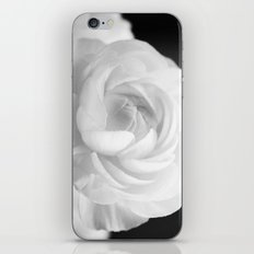 White Ranunculus Black and White Photography Nature Flower  iPhone & iPod Skin