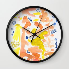 Abstract Floral II   Color 2 Wall Clock