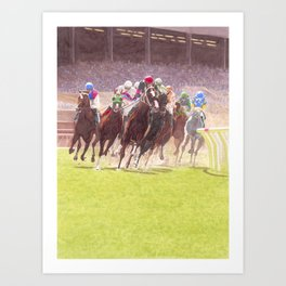 Clubhouse Turn Art Print