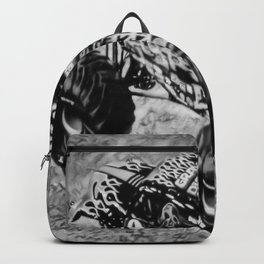 Gravedigger - Black and White Backpack