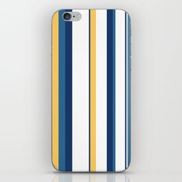 Vintage 1950s stripes iPhone Skin