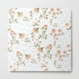 Little flowers pattern Metal Print