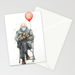 Bernie in Mittens with Balloon Stationery Cards