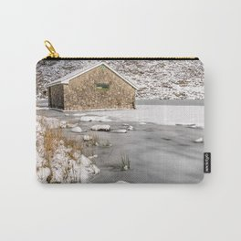 Frozen Lake Snowdonia Carry-All Pouch