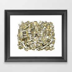 City Machine - Gold Framed Art Print