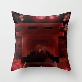 Horror Shrine Throw Pillow