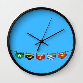Superheroes real life Wall Clock
