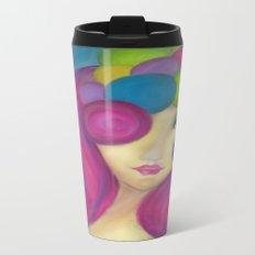 Blue Face Girl w/o Quote Travel Mug