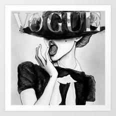 vogue; Art Print