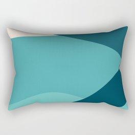 swell ocean and teal Rectangular Pillow