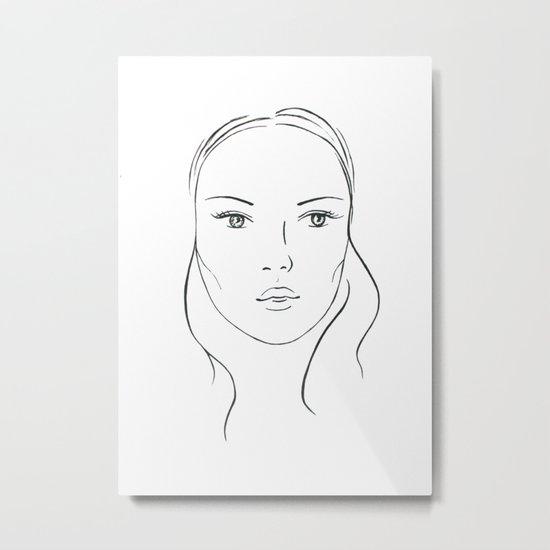 Pretty face Metal Print