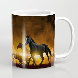 Wild Black Horses Coffee Mug
