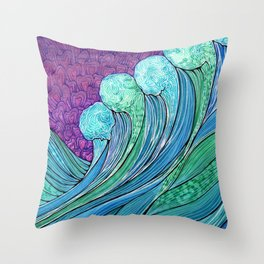 The Ocean In A Storm Throw Pillow