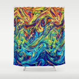Fluid Colors G254 Shower Curtain