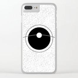 NATURAL SATELLITE Clear iPhone Case