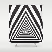 triangle Shower Curtains featuring Triangle by Vadeco