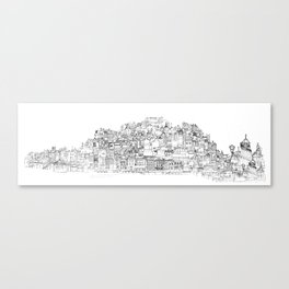 Panoramic Drawing of Brighton Canvas Print