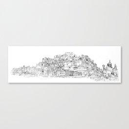 Panoramic Drawing of Brighton Canvas Print