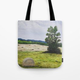 Tree in the Hayfield Tote Bag