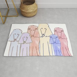 Pack Of Pretty Poodles Rug