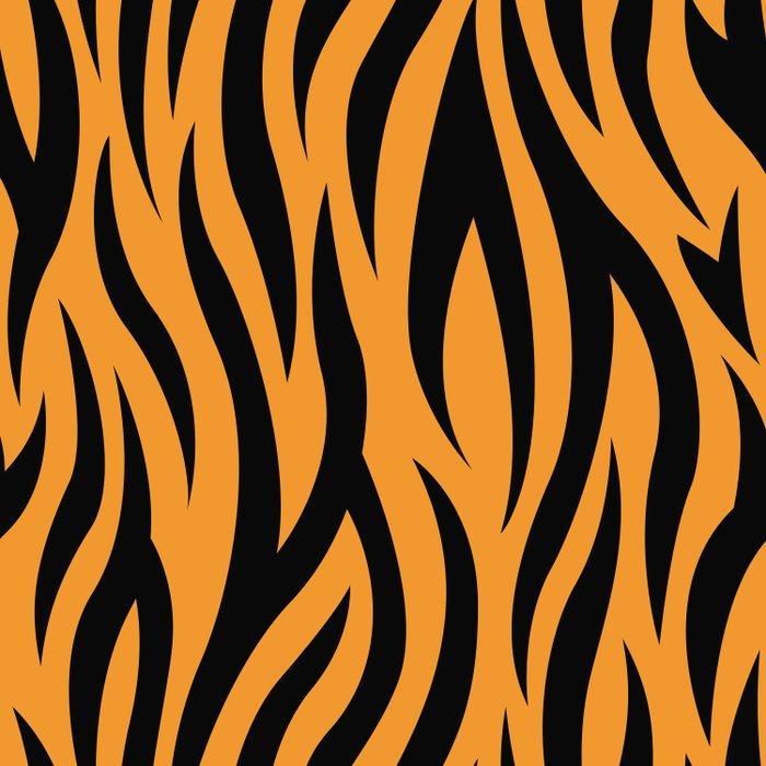 Tiger Stripes Pattern - Orange, Black Duvet Cover