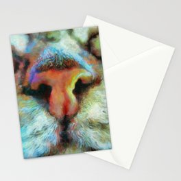"""Drunk Girl Cats """"Nosey"""" Must Boop this Nose! Stationery Cards"""