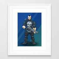 punisher Framed Art Prints featuring Punisher by Levi Cleeman