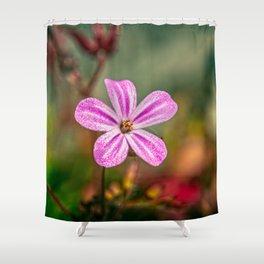 Geranium Robertianum Shower Curtain