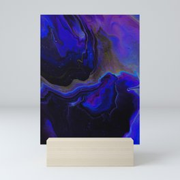 Dark Purple Blue Galaxy - Midnight Shades Mini Art Print