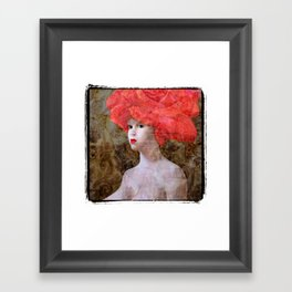"""Goddess with a Rose Hat. Variations on a Theme. """"Woman with a Hat"""" Series Framed Art Print"""