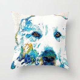 Colorful Dog - Great Pyrenees - Sharon Cummings Throw Pillow