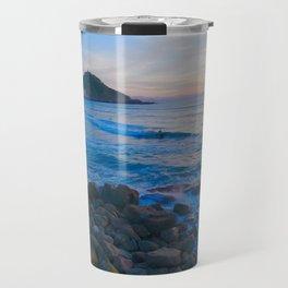 Sunset blue and orange. San Sebastian, Spain. Travel Mug