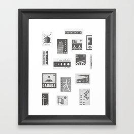 USA, Canada, London, The Moon Framed Art Print