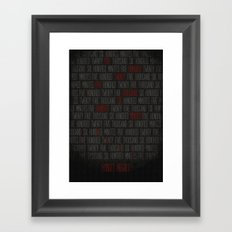 RENT  Framed Art Print