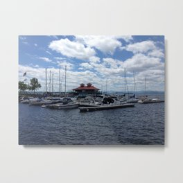 Sittin' on the Dock of the Lake Metal Print