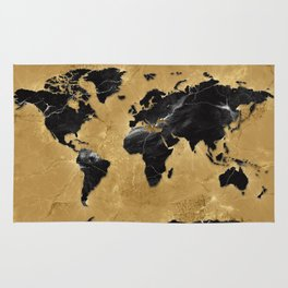 World map marble gold 2 wall tapestry by bekimart society6 world map marble gold 2 rug gumiabroncs Gallery