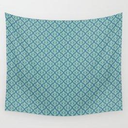Geometrical blue pattern Wall Tapestry