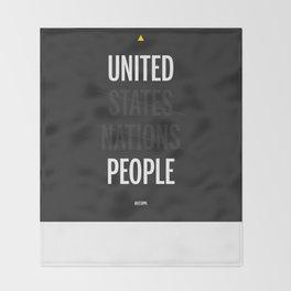 UP - United People Throw Blanket
