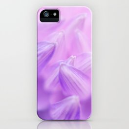 Pearl Petal Kiss | pink flower, pastel flowers, purple floral pattern, cute dahlia petals, macro iPhone Case