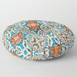 Seamless Floral Pattern Ornamental Tile Design : 1 Floor Pillow