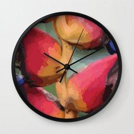 Helliconia Flower CR Illustration Wall Clock