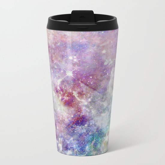 Rainbow Stars Space Galaxy Pattern Metal Travel Mug