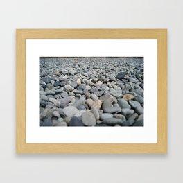 Stones at the Lake Framed Art Print