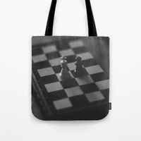chess Tote Bags featuring Chess by Anomaly Studio