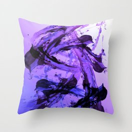 Ferocious And Calming Lavender Abstract Throw Pillow