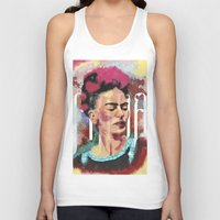 frida Tank Tops featuring Frida by Juan Alonzo