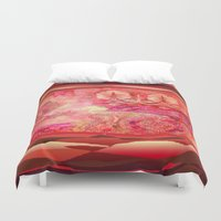 50s Duvet Covers featuring boho ethnic by Ariadne
