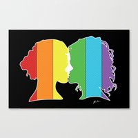 lesbian Canvas Prints featuring Lesbian Love  by Winter Graphics