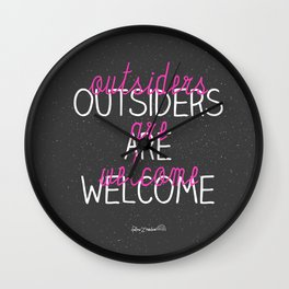 outsiders are welcome! Wall Clock