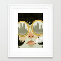 glasses Framed Art Prints featuring Glasses by Ericka Lugo
